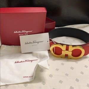 Salvatore Ferragamo Red/Black reversible belt